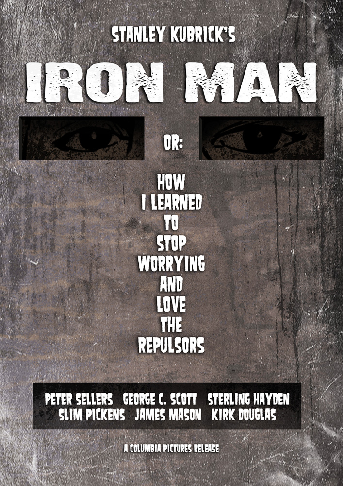 Kubrick Iron Man Poster2