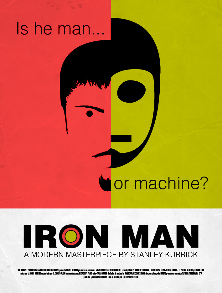 Kubrick Iron Man Poster8