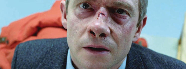 "Martin Freeman as Lester Nygaard in the FX series ""Fargo."""