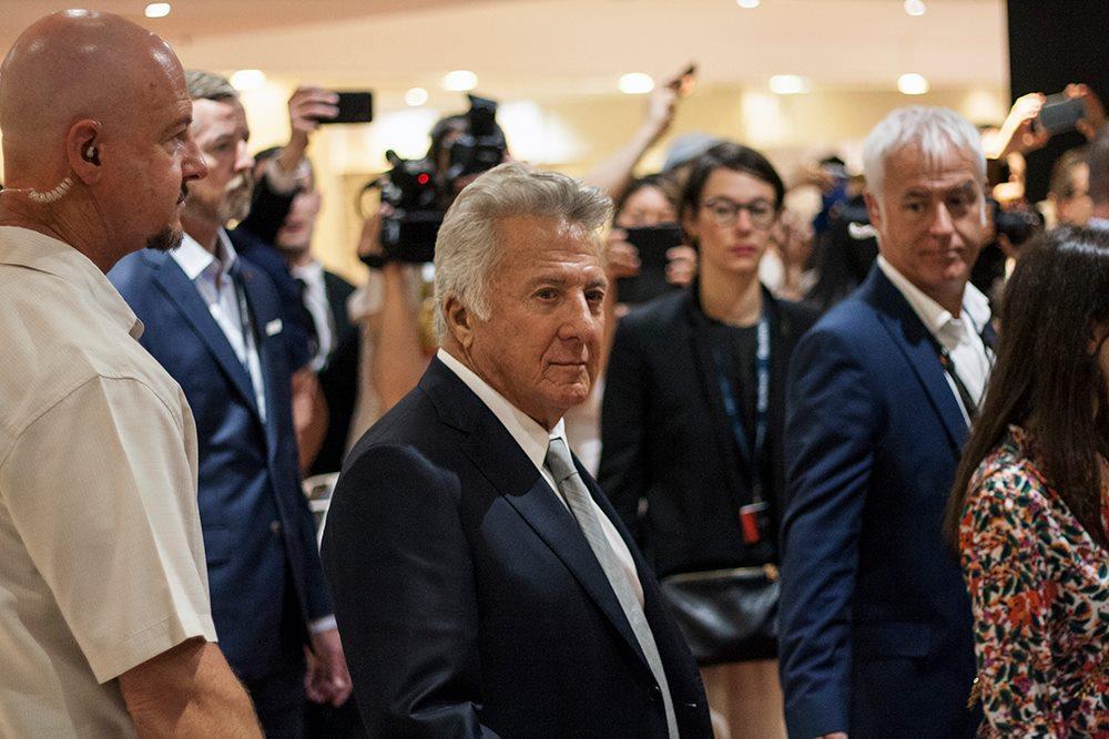 Dustin Hoffman és a testőr / fotó: Árva Márton